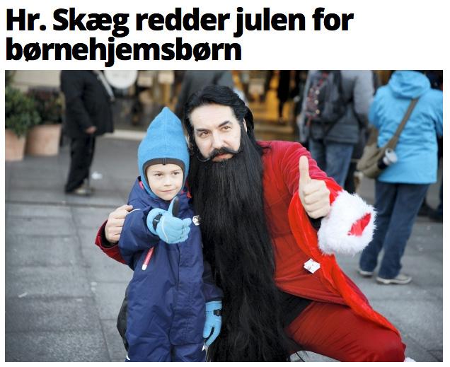 Hr. Skæg redder julen for børnehjemsbørn